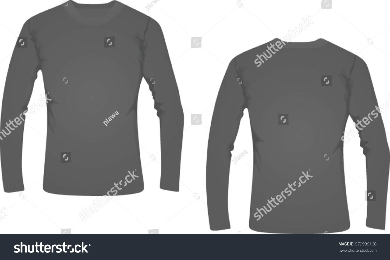 Black t shirt vector photoshop - Men Long Sleeve T Shirt Vector