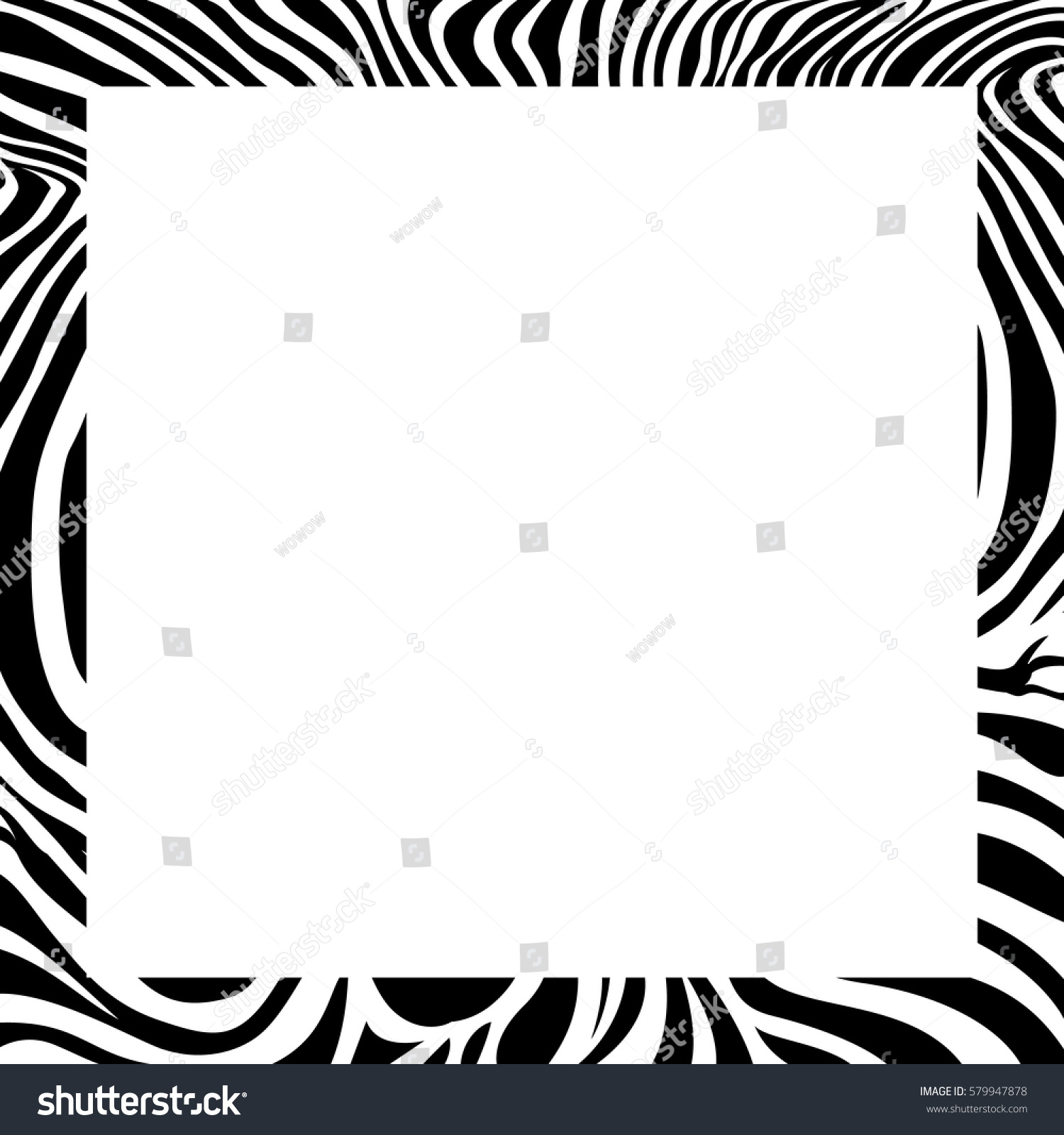 Zebra Print Border Frame Design Animal Vector de stock579947878 ...