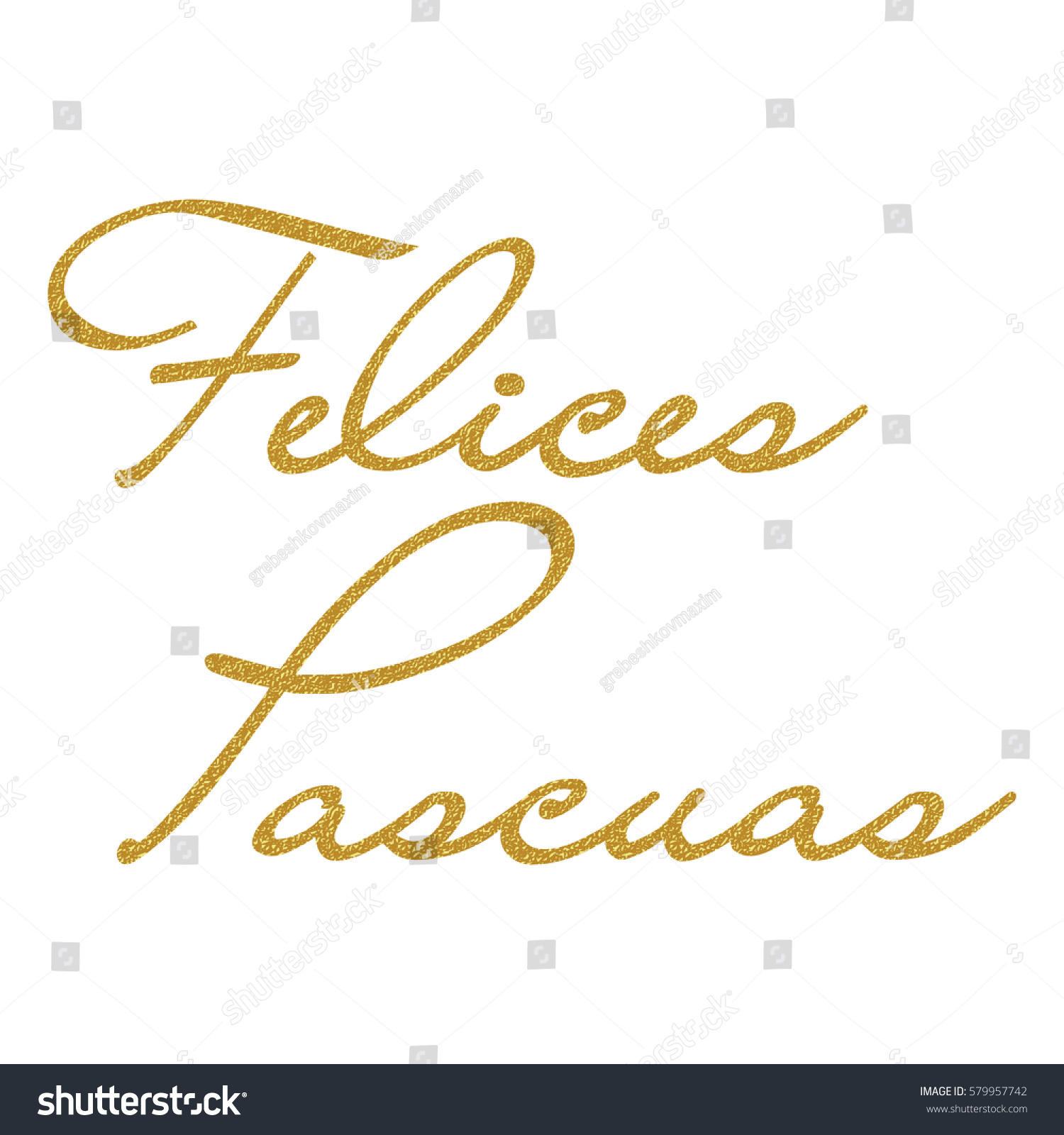 Gold happy easter text on spanish stock vector 579957742 gold happy easter text on spanish for greeting card vector holiday design on white background kristyandbryce Images