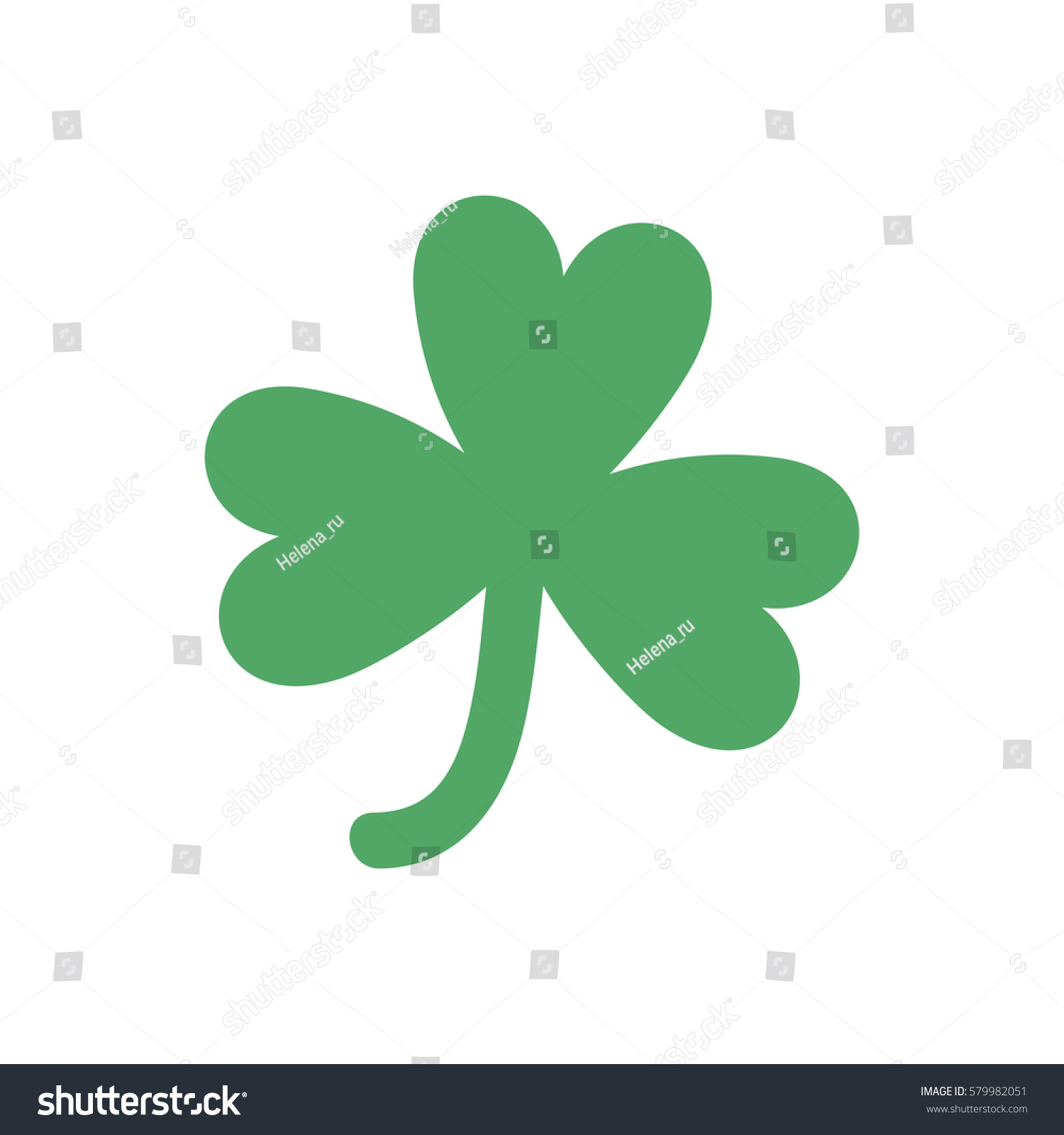 four leaf clover st patricks day stock vector 579982051 shutterstock