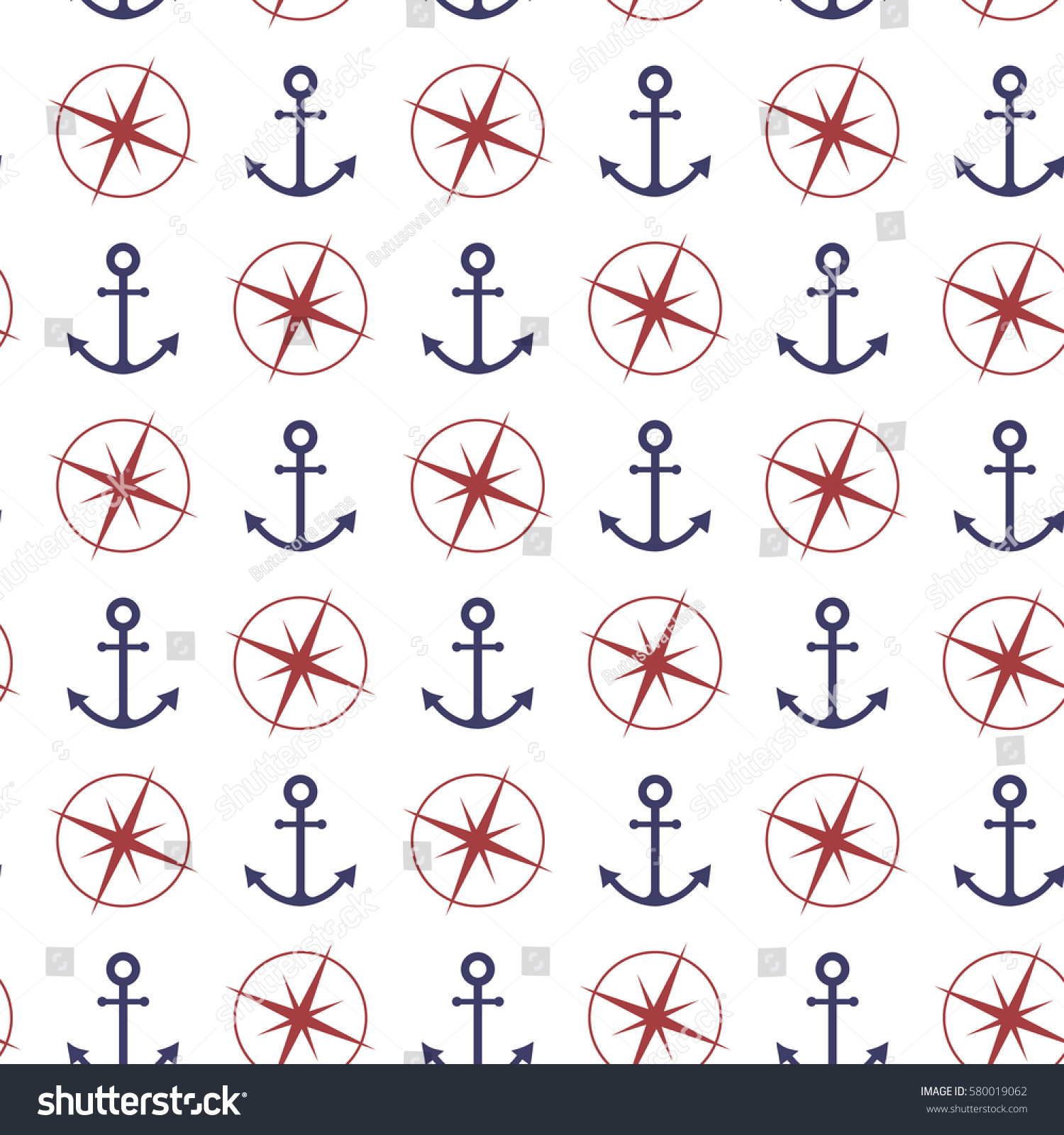 Nautical Seamless Pattern Anchor Compass Vector Stock Vector Royalty Free 580019062 A wide variety of bulova options are available to you, such as screen resolution. shutterstock