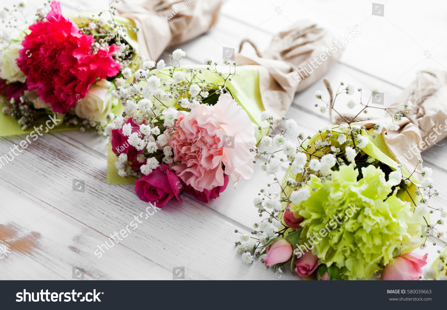 Mini Flower Bouquet Roses Carnation Stock Photo (Download Now ...
