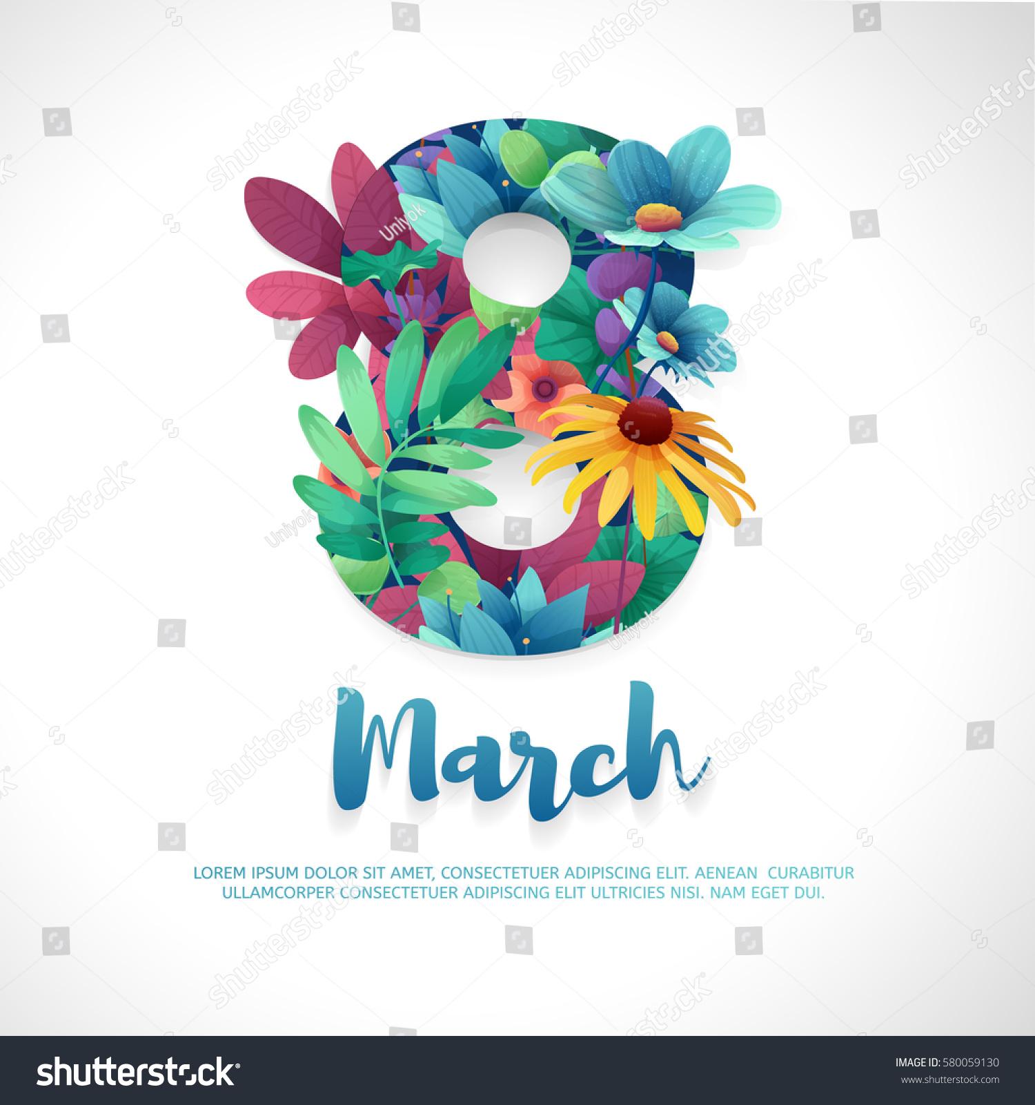 Banner International Womens Day Flyer March Stock Vector ...