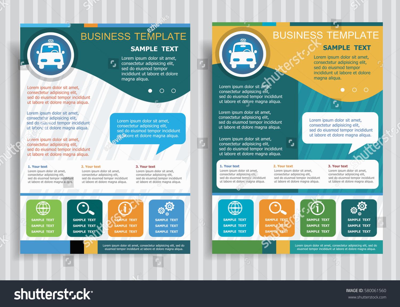 taxi symbol on vector brochure flyer stock vector royalty free