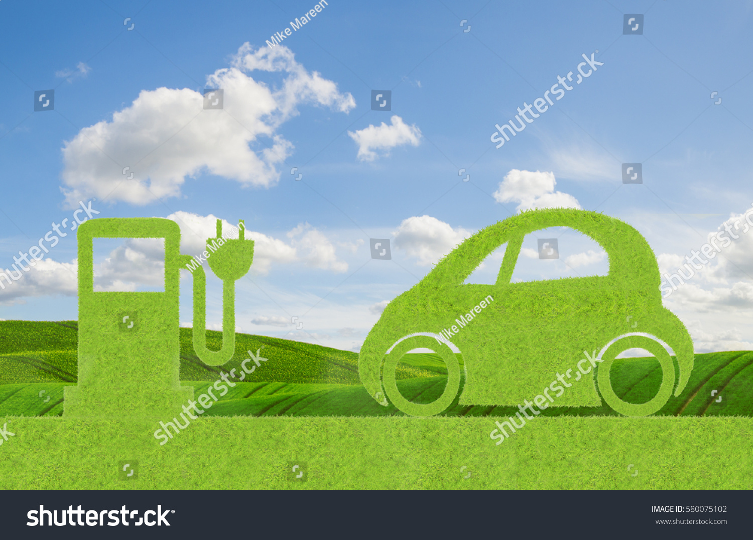 eco concept green car alternative propulsion stock photo 580075102 shutterstock. Black Bedroom Furniture Sets. Home Design Ideas