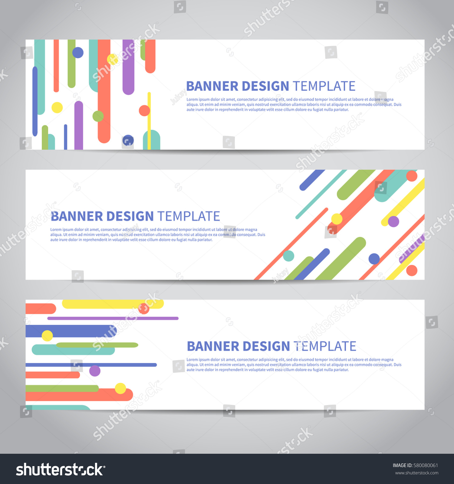 banner covers flat geometric pattern cool stock vector 580080061
