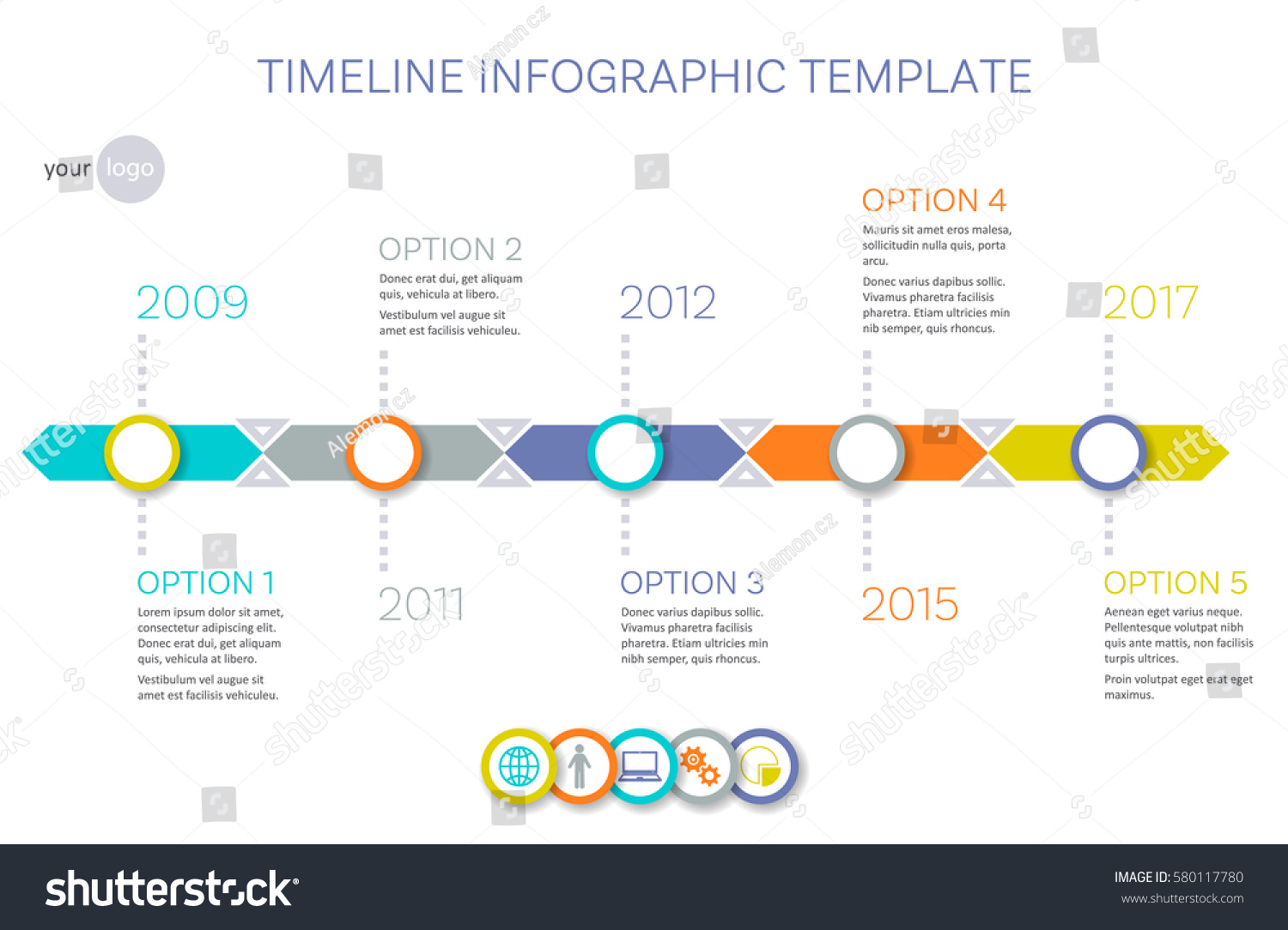 Vector Timeline Infographic Template History Your Stock Vector - Timeline infographic template