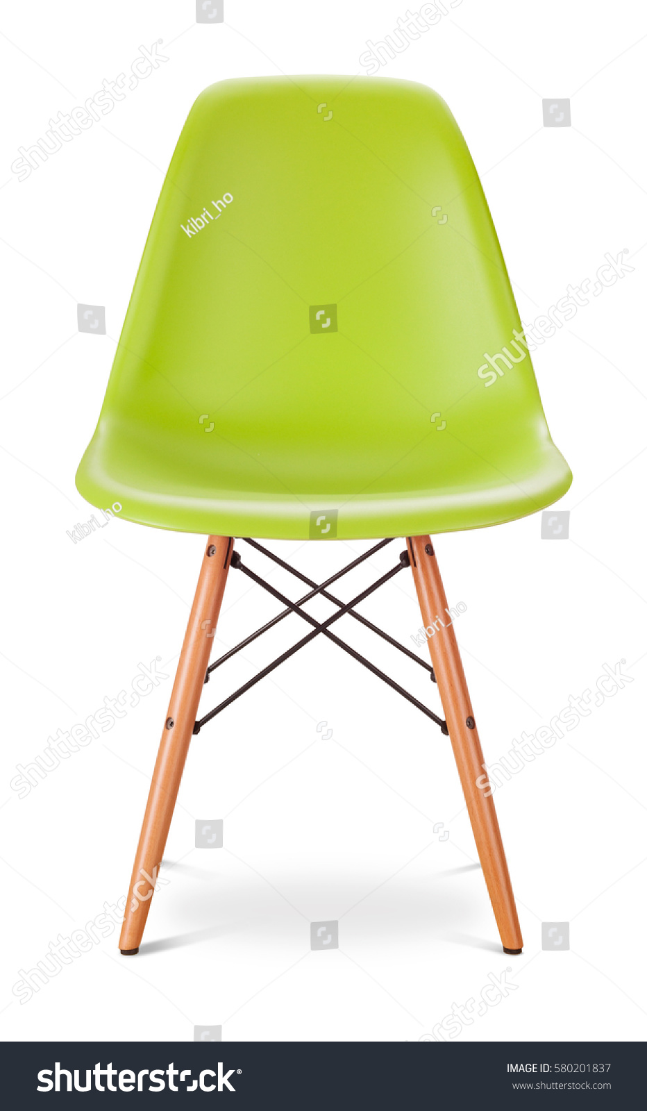 Green color chair, modern designer, chair isolated on white background.  #580201837