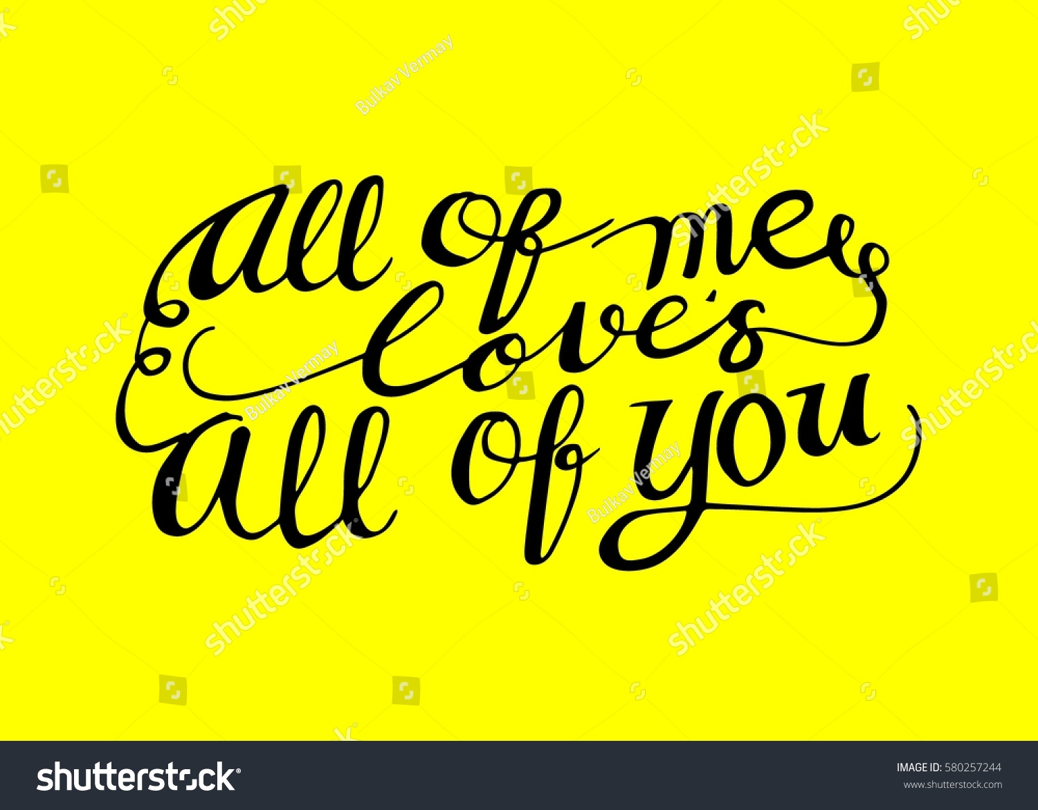 All me loves you hand stock vector