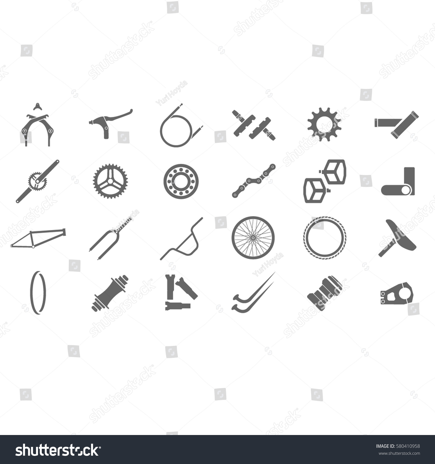 Fresh Bmx Parts Icons Bicycle Icon Stock Vector Royalty Free Bike Diagram Crank Iconbicycle Component