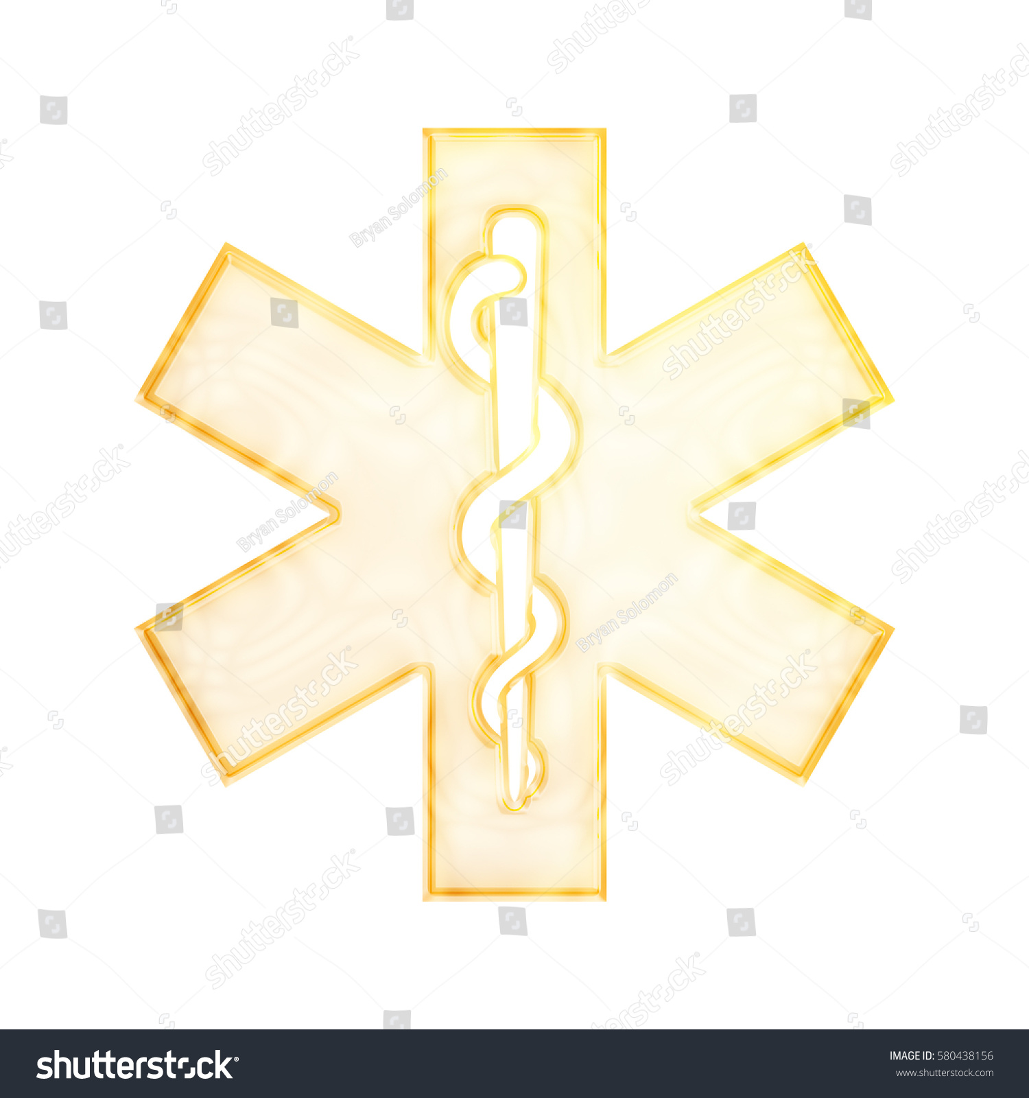 Rod Asclepius Snake Staff Medical Healthcare Stock Illustration
