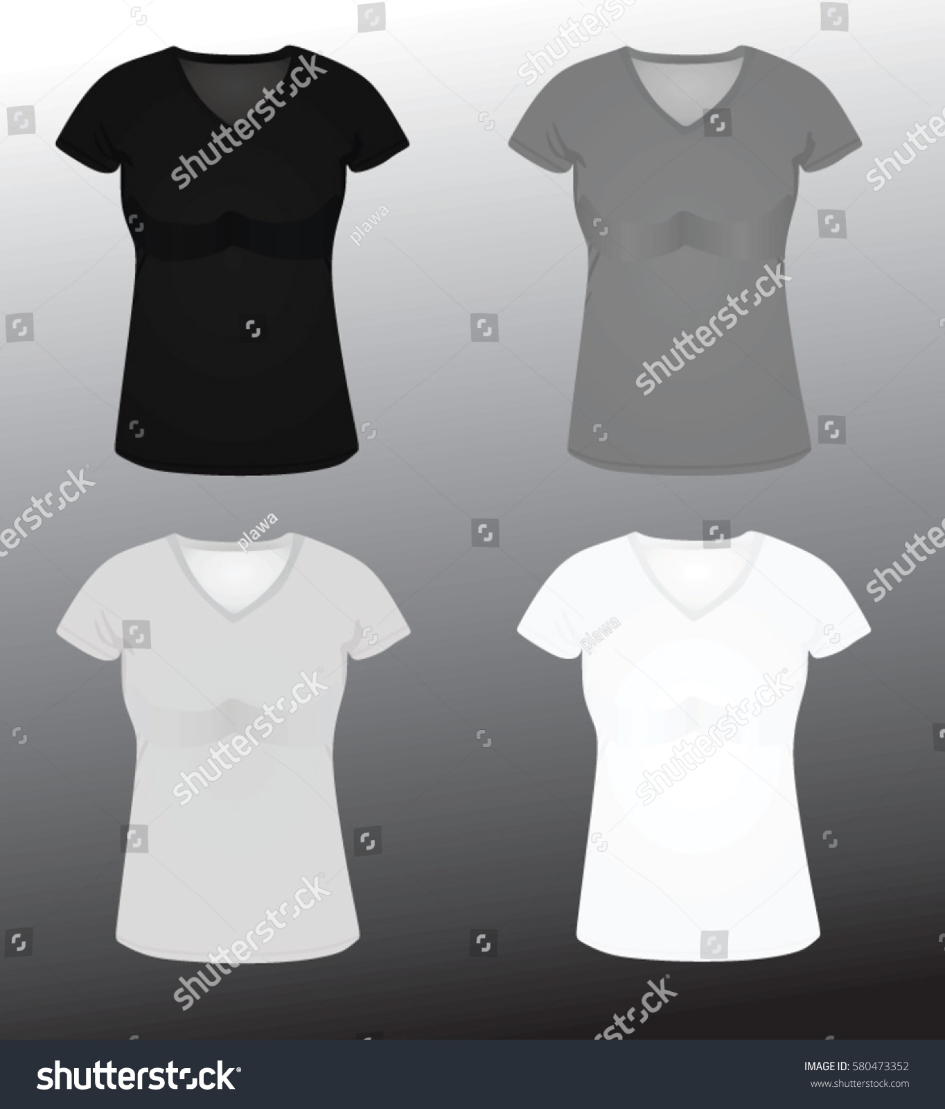 Black t shirt vector - Women T Shirt Vector