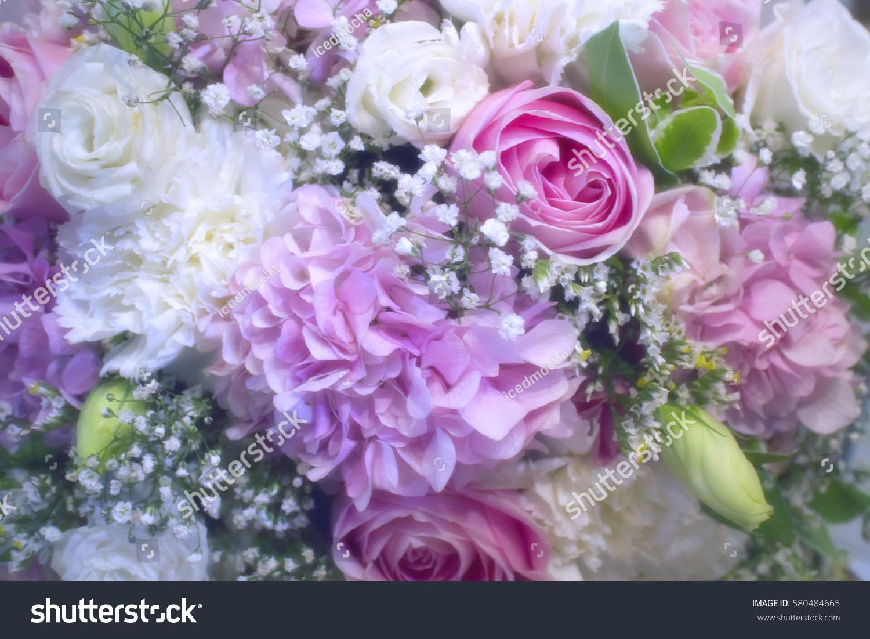 Beautiful Bunch Flowers Pastel Tone Stock Photo Edit Now 580484665