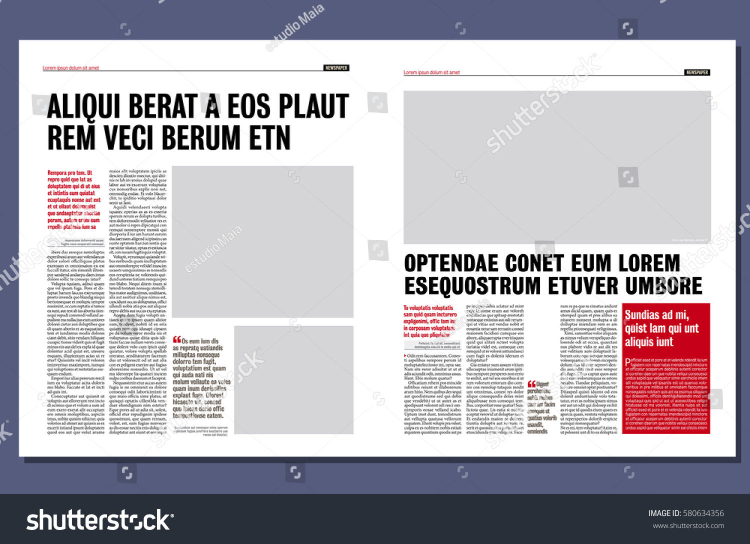 simple graphical design newspaper template stock vector royalty