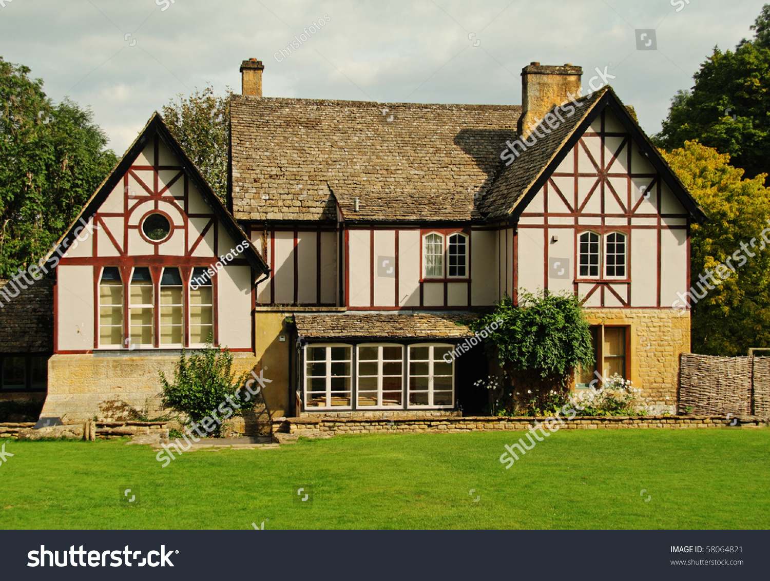 Traditional Timber Framed English Country House Stock ...