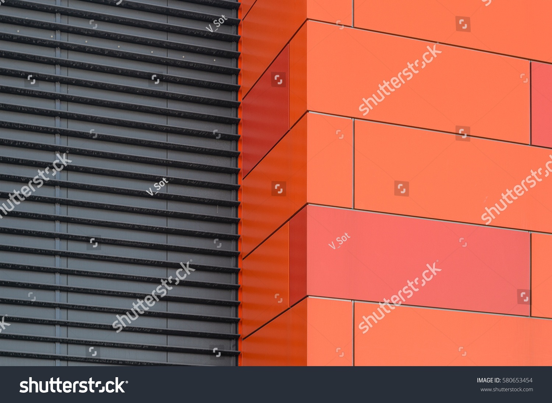 modern facade composite panels view outside stock photo. Black Bedroom Furniture Sets. Home Design Ideas