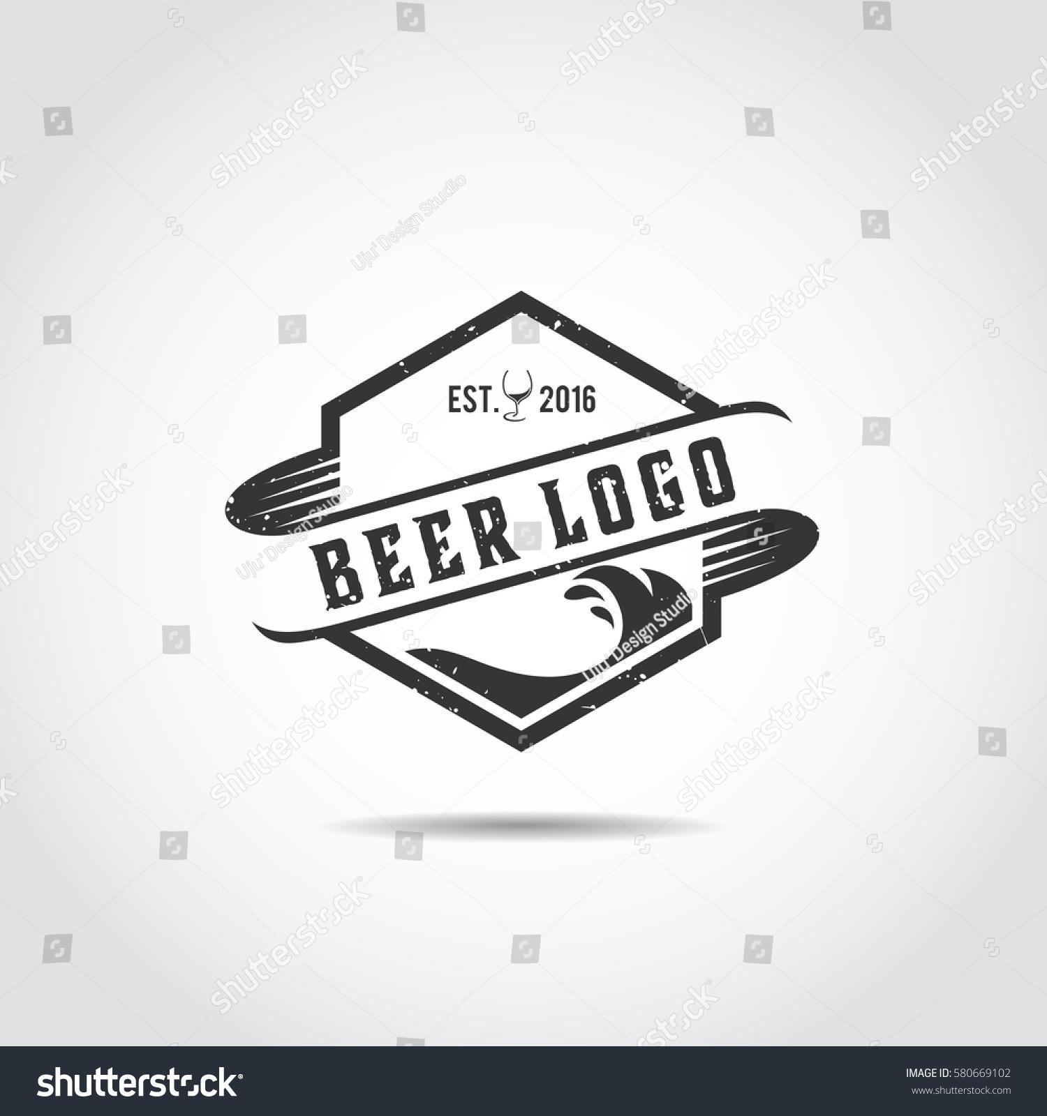 Beer Craft Logo Template Vector Illustrator Stock Vector