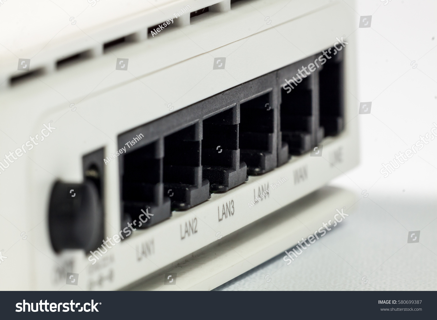 Small Network Switch Home Office Use Objects Stock Image 580699387