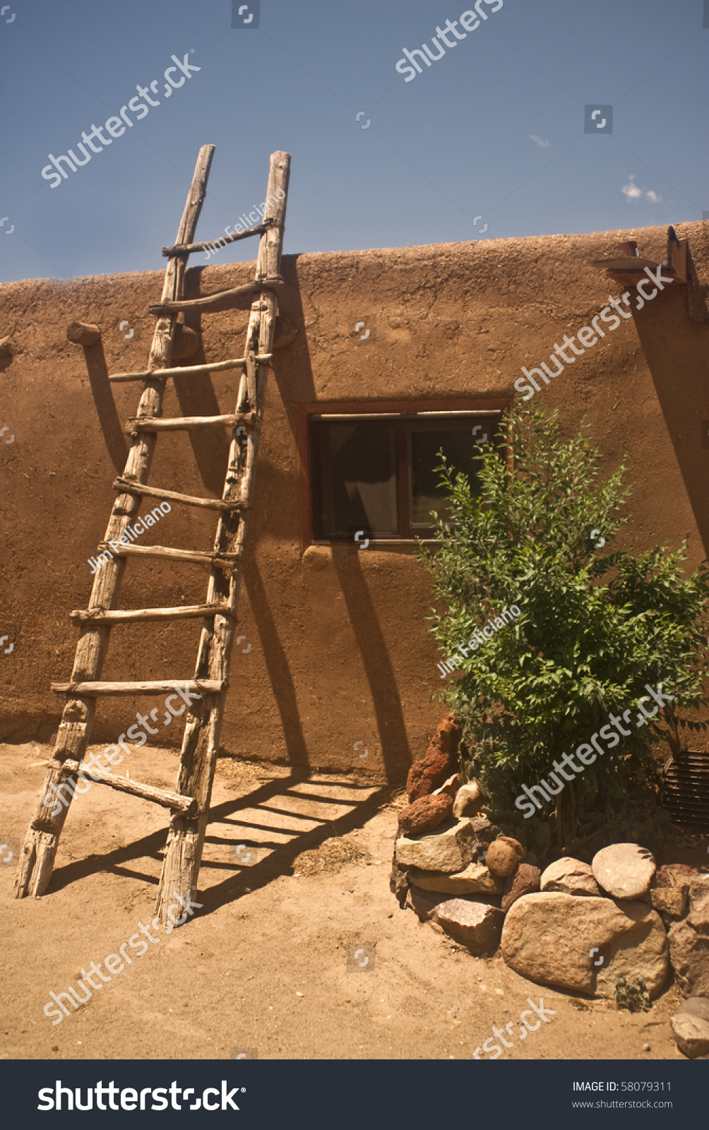 Adobe Dwelling At Taos Pueblo In New Mexico The Oldest