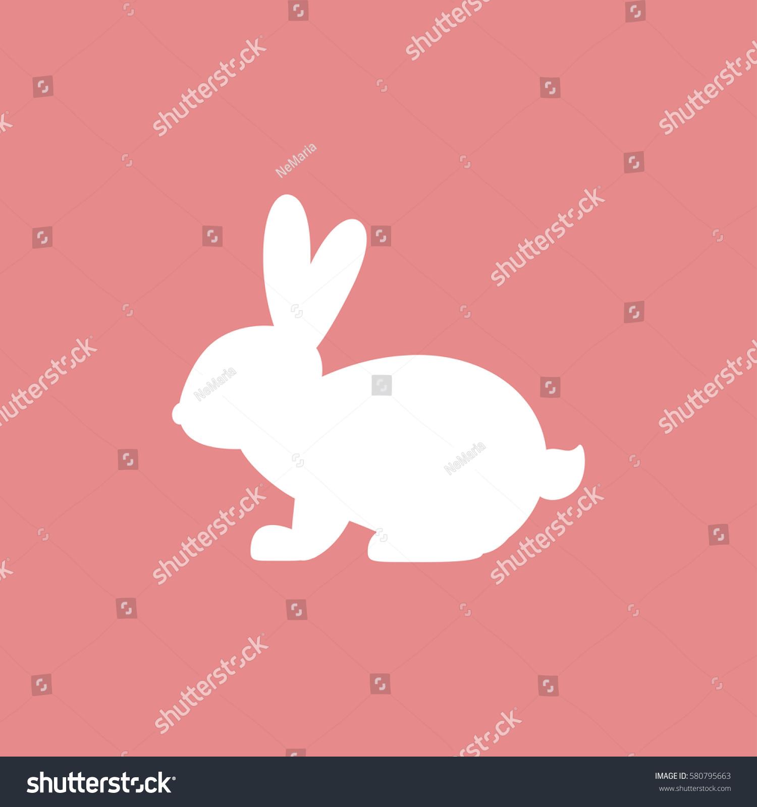 vector icon rabbit white rabbit on stock vector 580795663