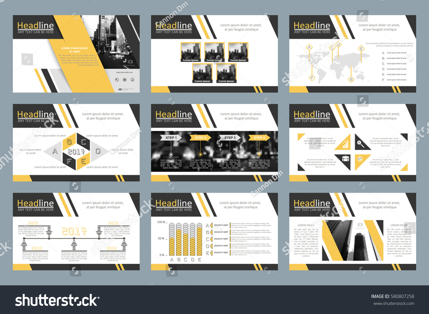 creative set abstract infographic elements modern stock vector