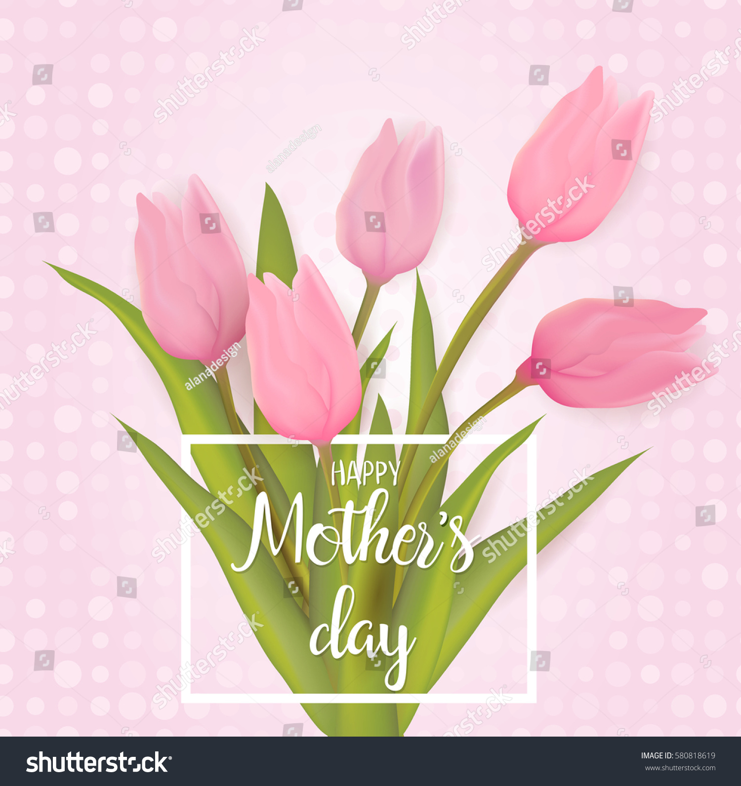 Mothers day greeting card tulip flowers stock photo photo vector mothers day greeting card with tulip flowers with typography greeting message vector illustration m4hsunfo