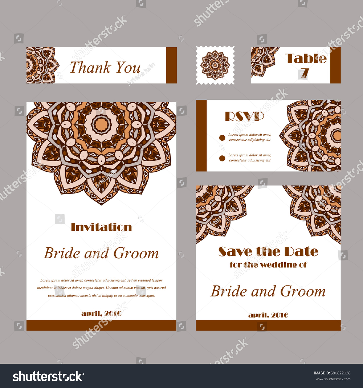 Set wedding invitations wedding cards template stock vector set of wedding invitations wedding cards template with individual concept design for invitation pronofoot35fo Gallery