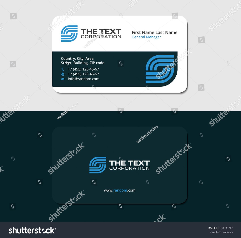 Business Card Internet Service Provider Blue Stock Vector 580839742 ...