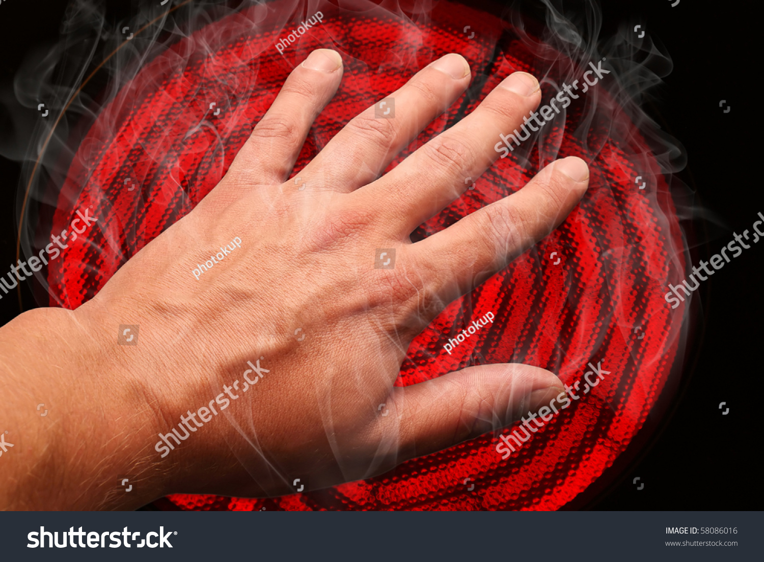 how to get burns off of stove top