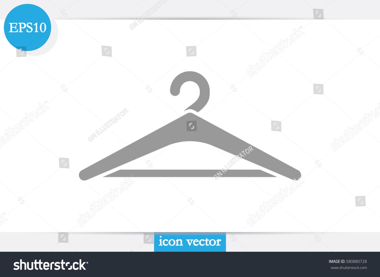 Coat rack symbol hanger icon vector stock vector 580880728 coat rack symbol hanger icon vector illustration buycottarizona