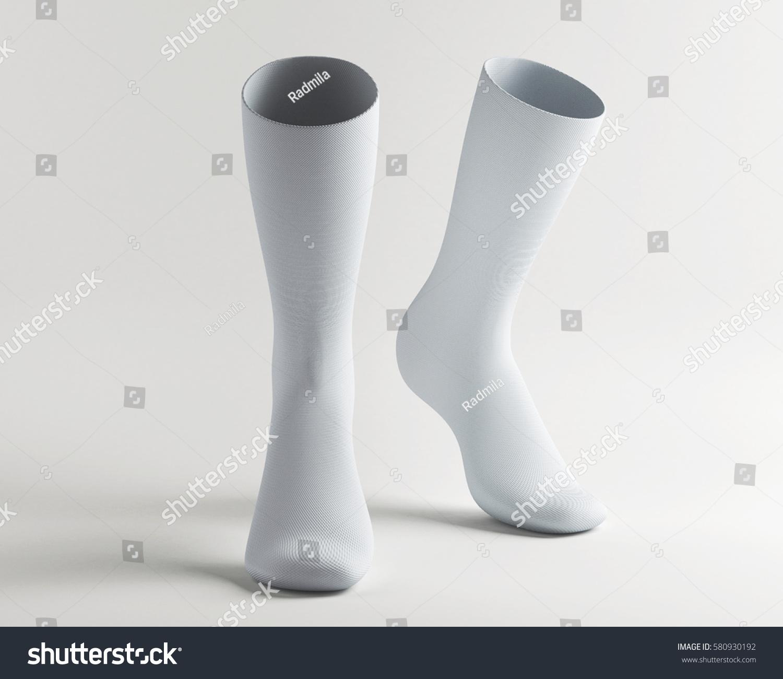 White apron mockup - White Socks Socks Mockup 3d Rendering
