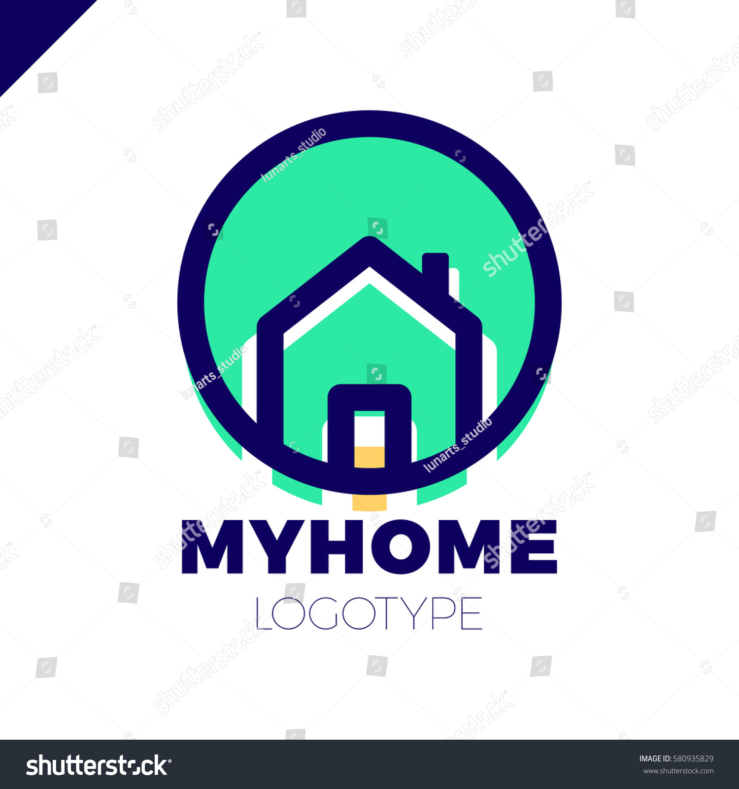 Template Logo For Real Estate Agency Or Cottage Town Elite Class Logotype In