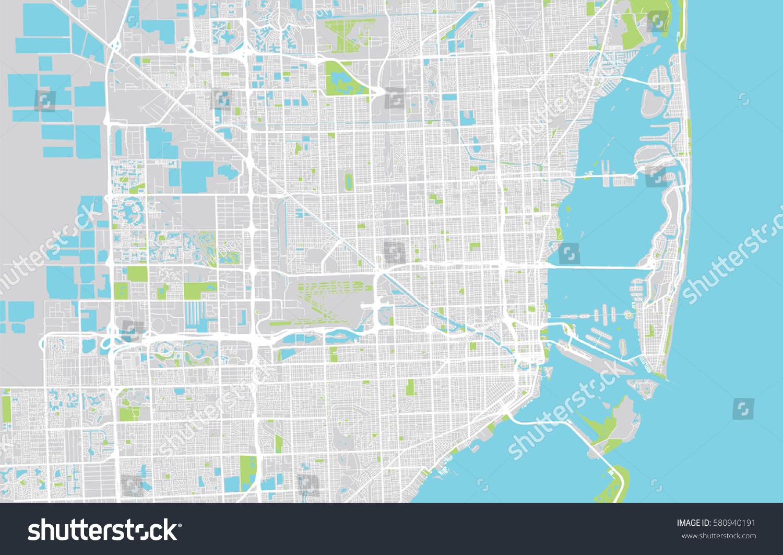 Vector City Map Miami Florida Stock Vector Shutterstock - City map of florida