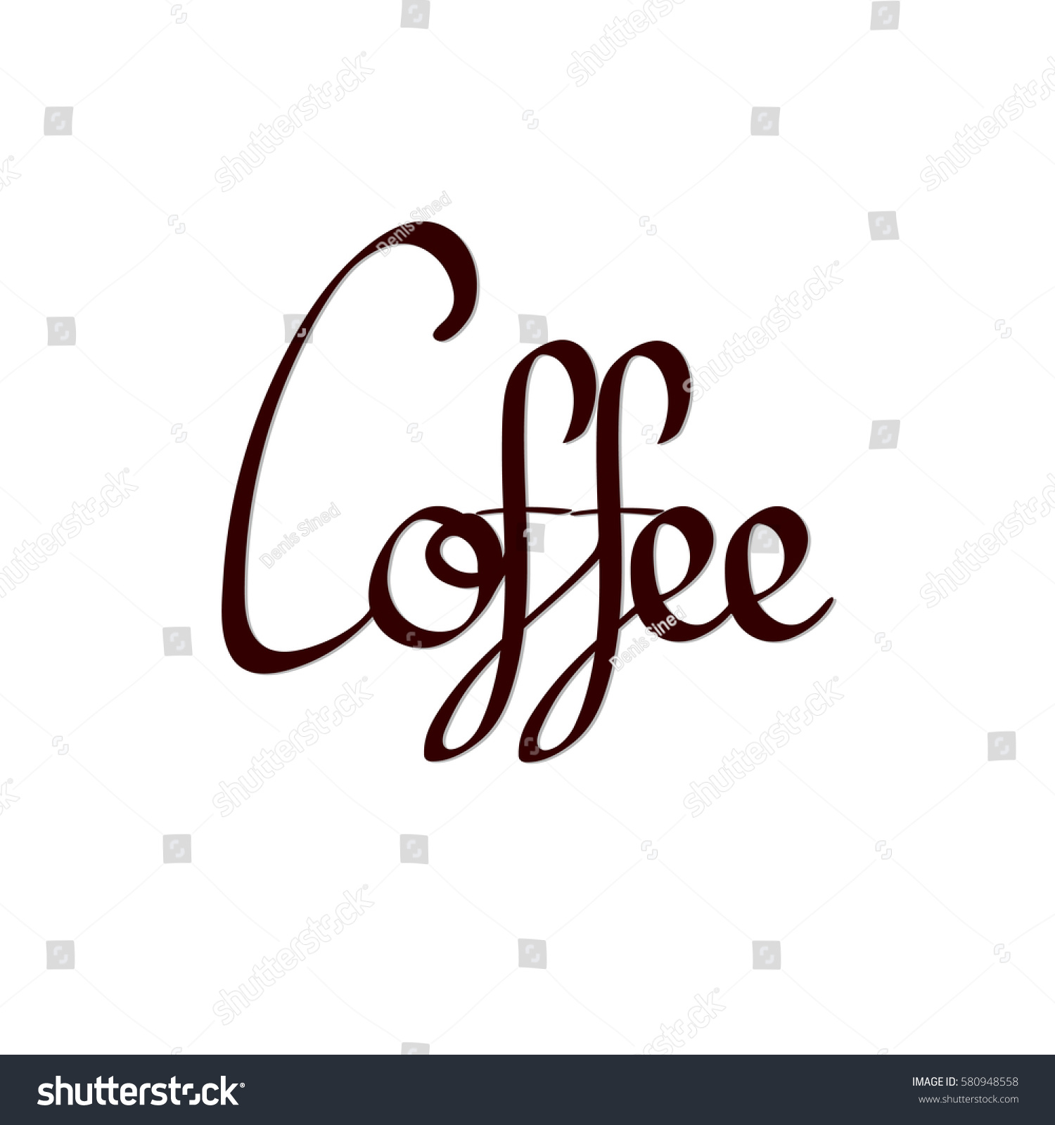 Coffee Calligraphy Lettering Word - 219.0KB