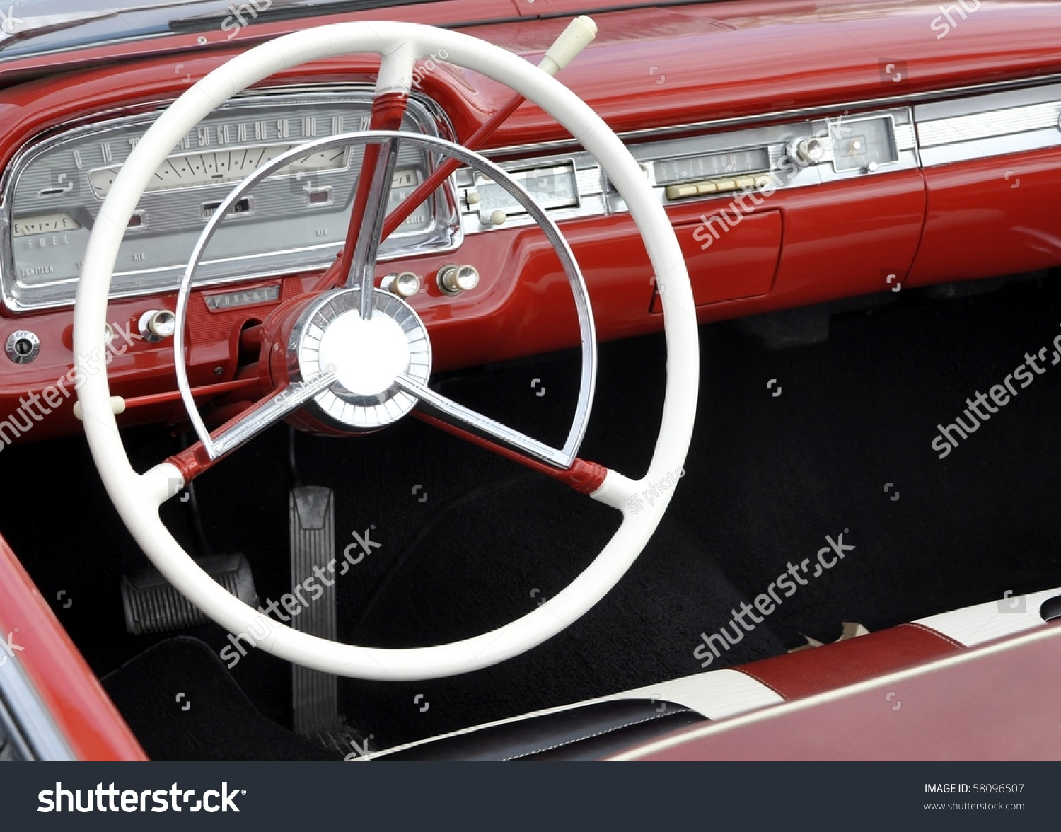 Dashboard Vintage Automobile Stock Photo 58096507 - Shutterstock
