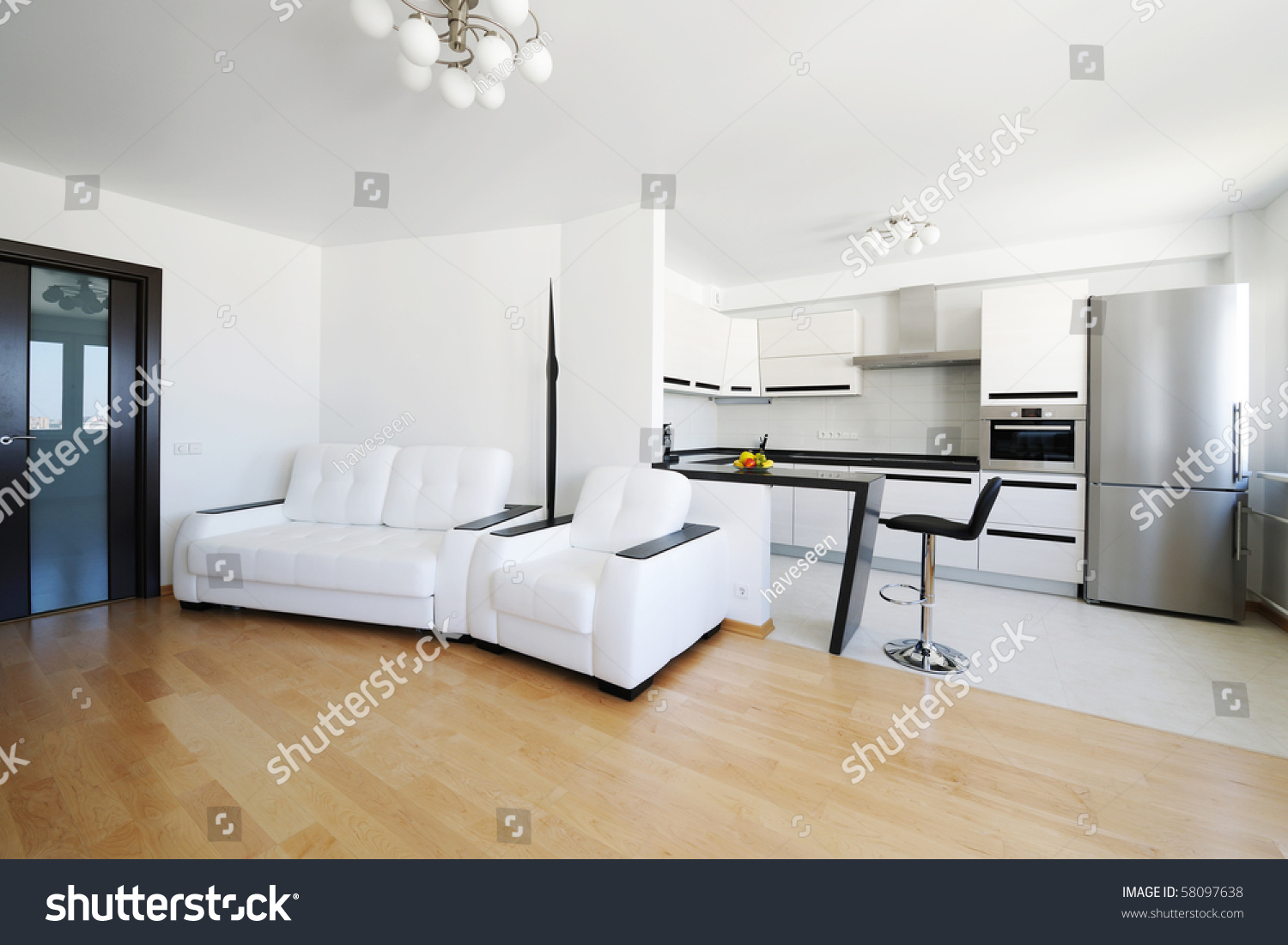 Modern Luxury Living Room Interior No Stock Photo (Download Now ...