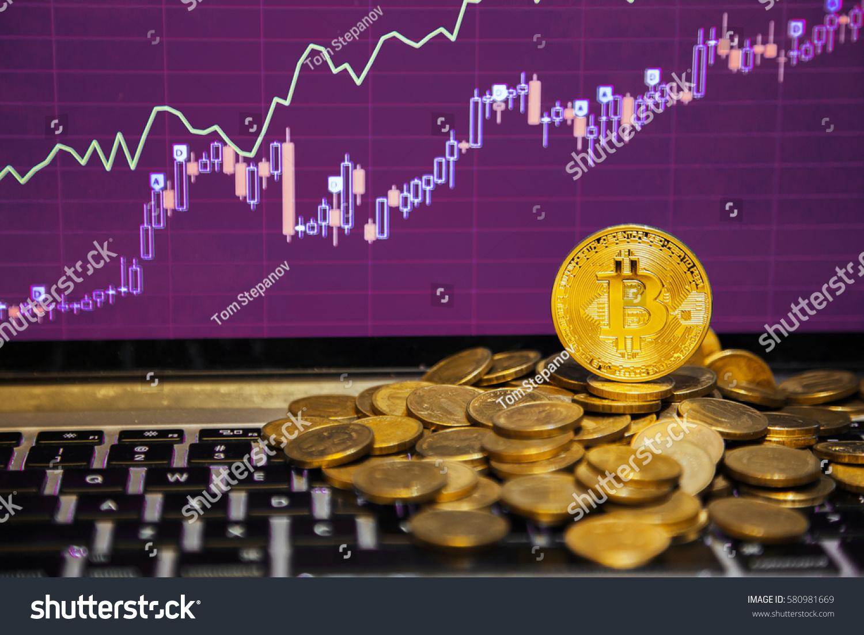 Financial Growth Concept Golden Bitcoins Ladder Stock Photo 580981669 - Shutterstock