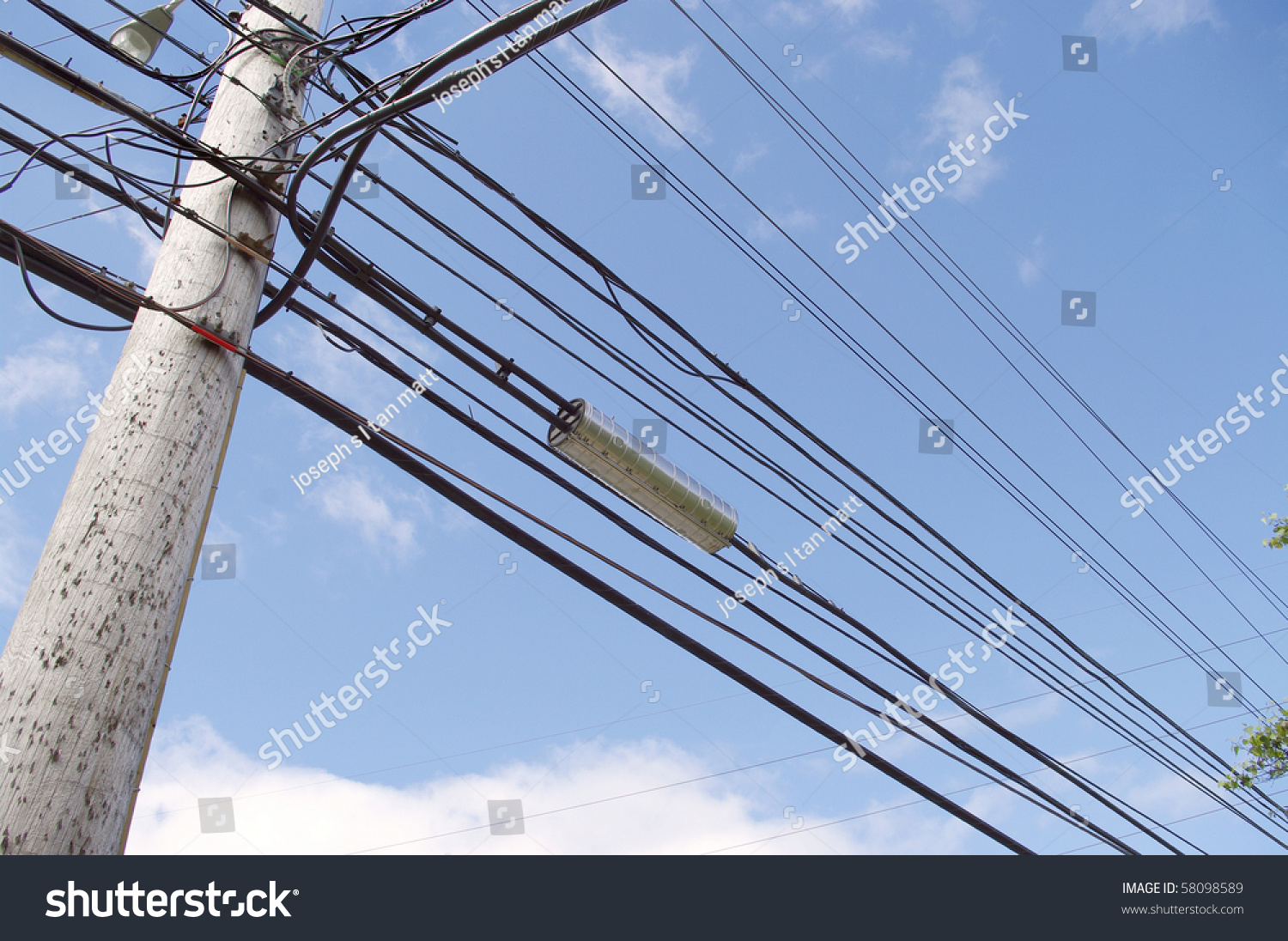 High Tension Hydro Power Electricity Cable Stock Photo (Edit Now ...