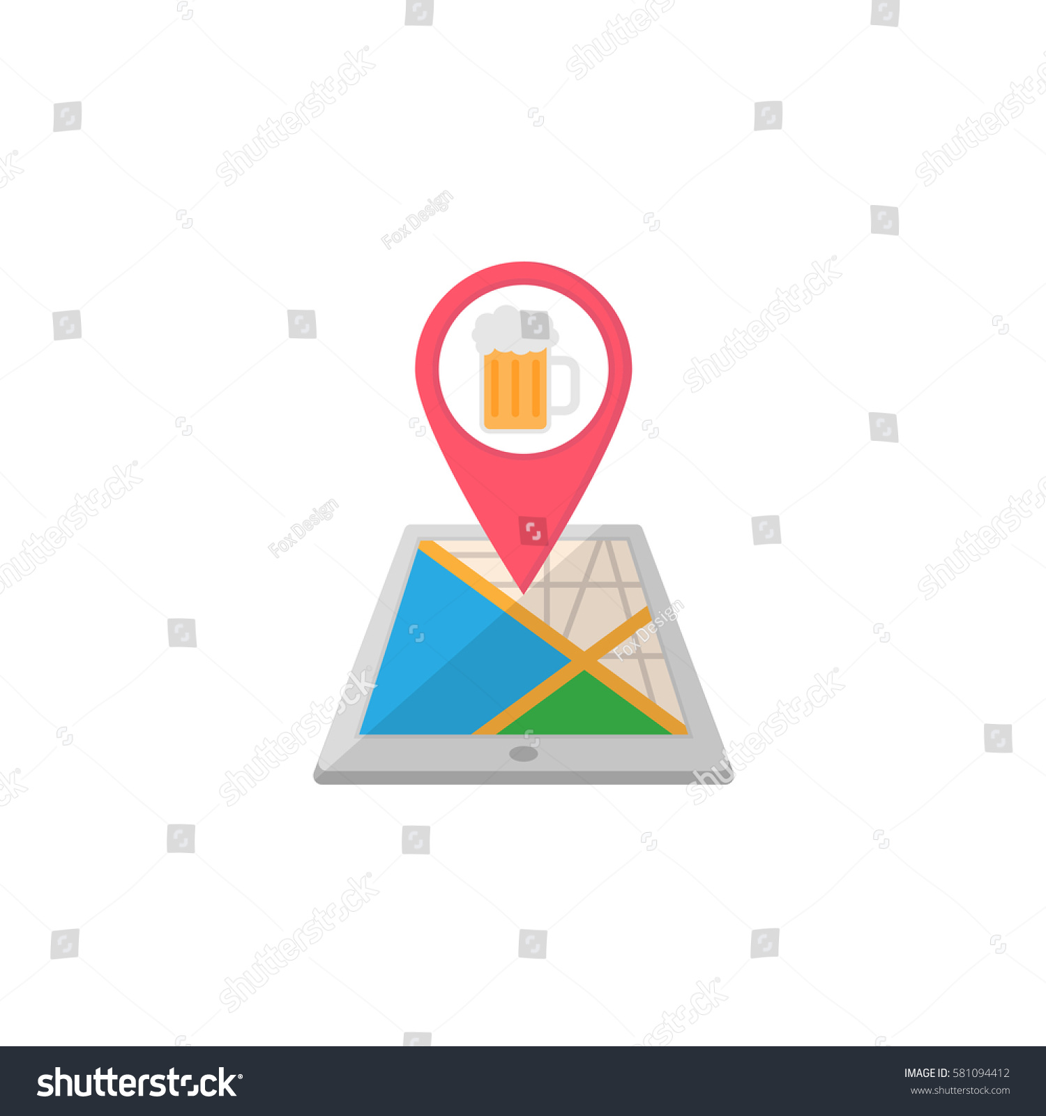 pub terminal map pointer flat icon stock vector royalty free rh shutterstock com Beer Fermentation Process Diagram Beer Fermentation Process Diagram