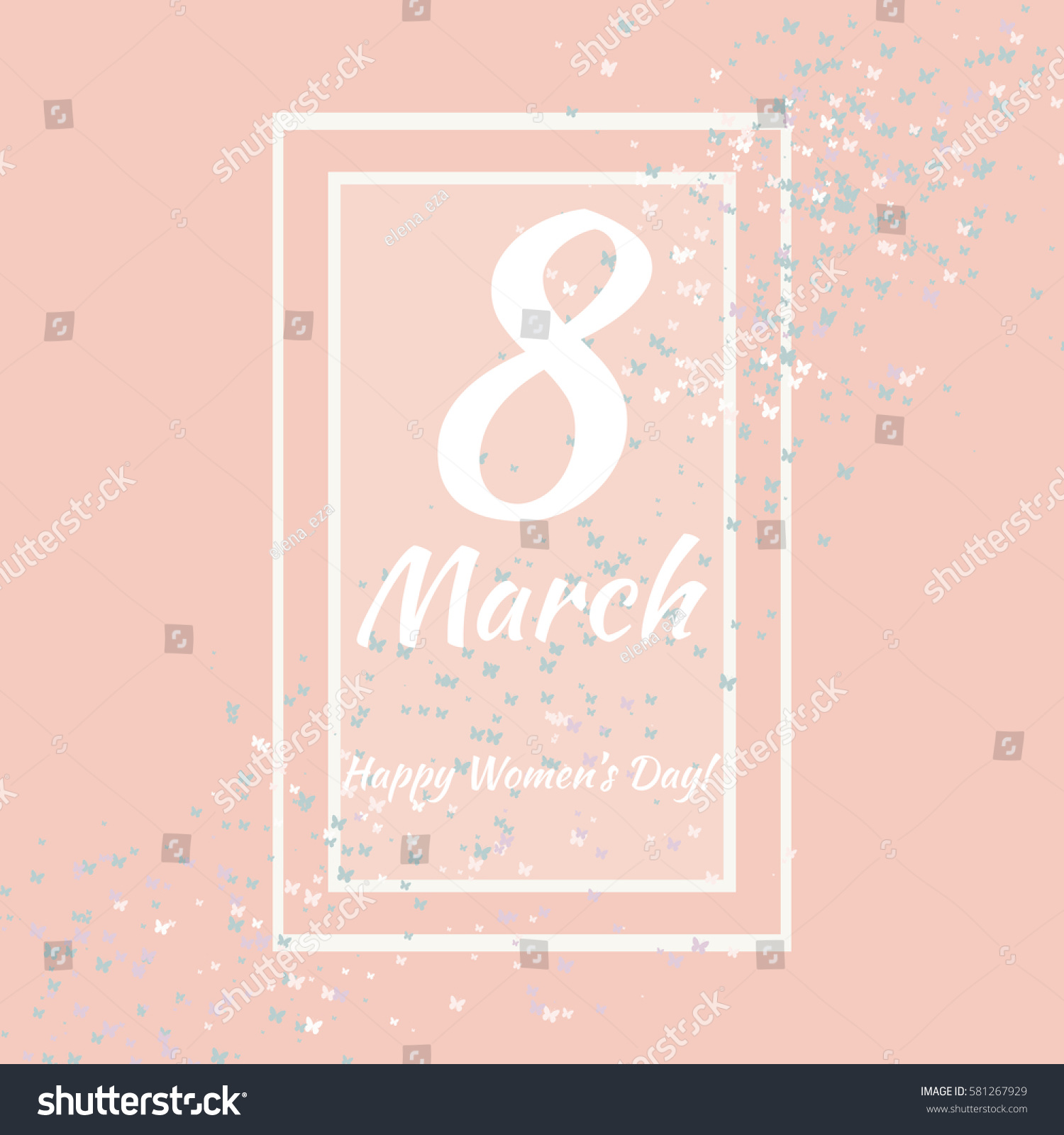 8 march vector card international womens stock vector 581267929 vector card for international womens day also template can be used as kristyandbryce Images