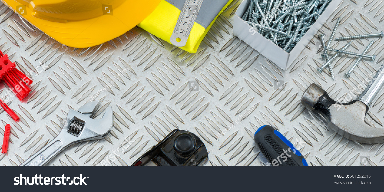 Diy Woodworking Tools Equipment Copy Space Stock Photo Edit