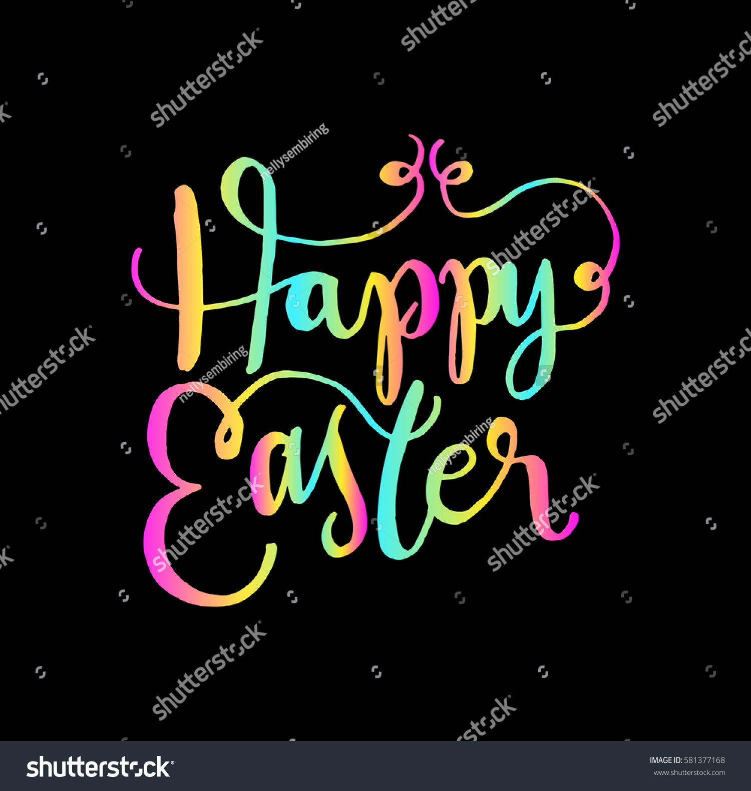 Happy easter hand lettered quote bible stock vector