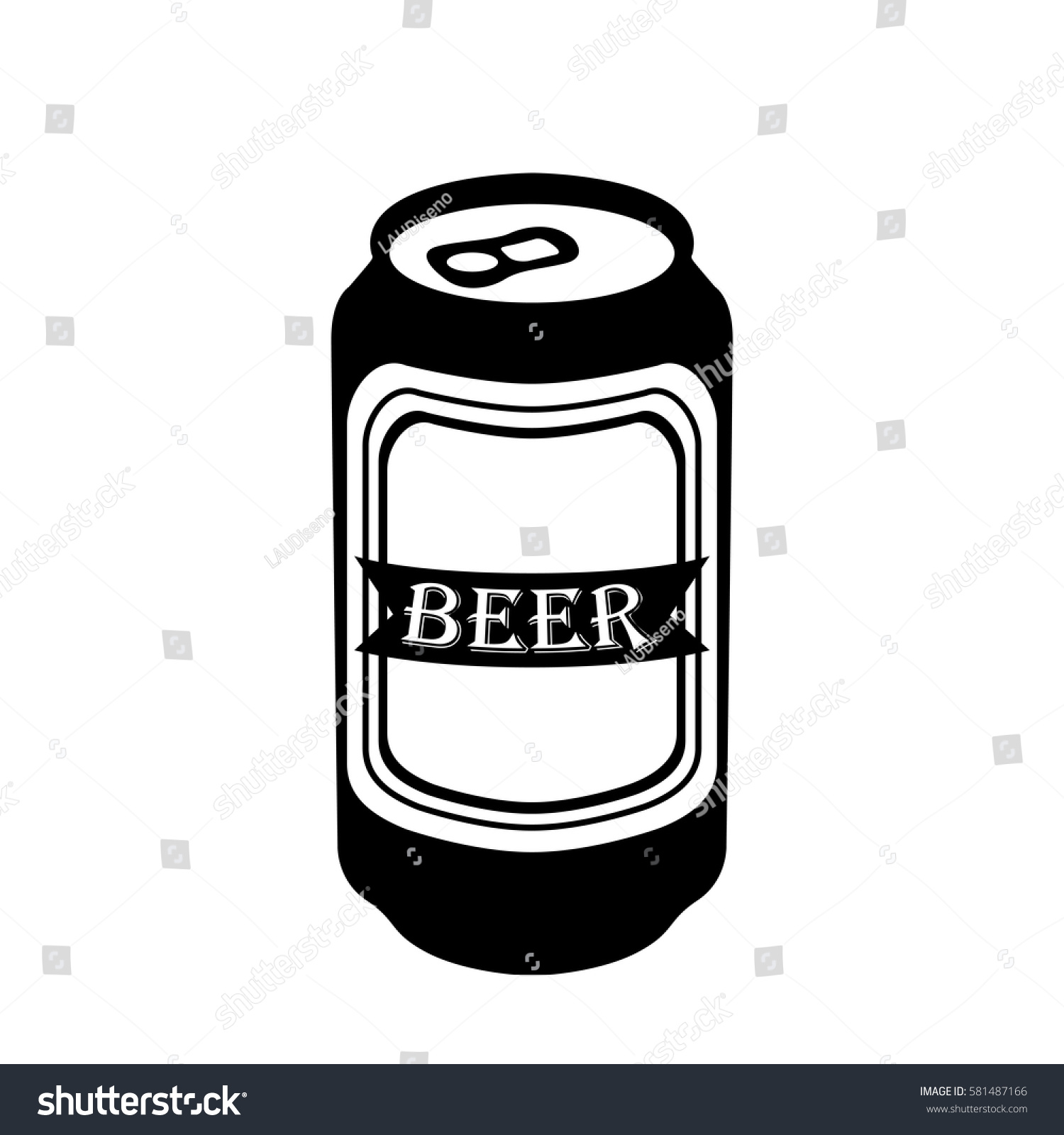 isolated silhouette beer can vector illustration stock vector rh shutterstock com crushed beer can vector crushed beer can vector