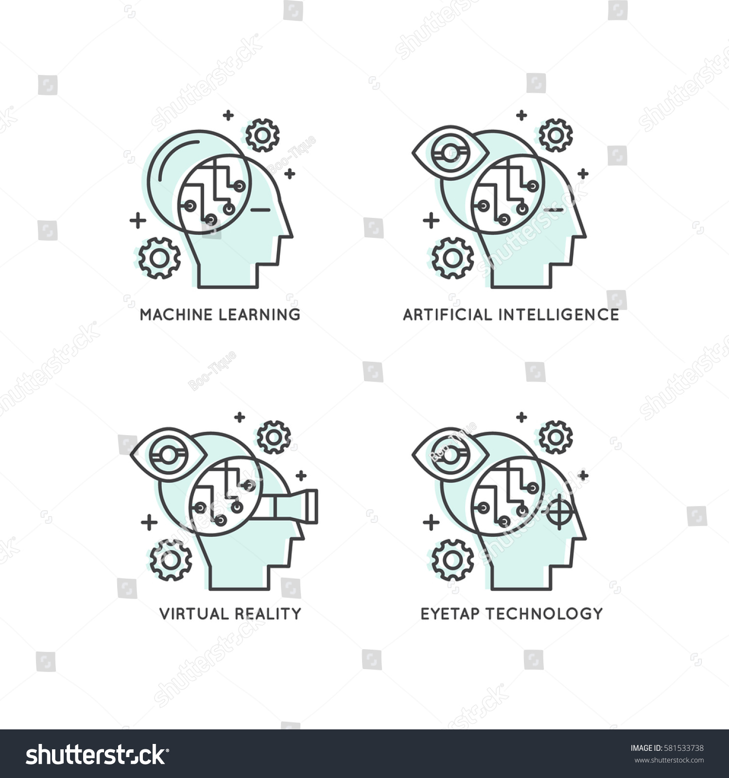 Vector Icon Style Illustration Concept Machine Stock ...
