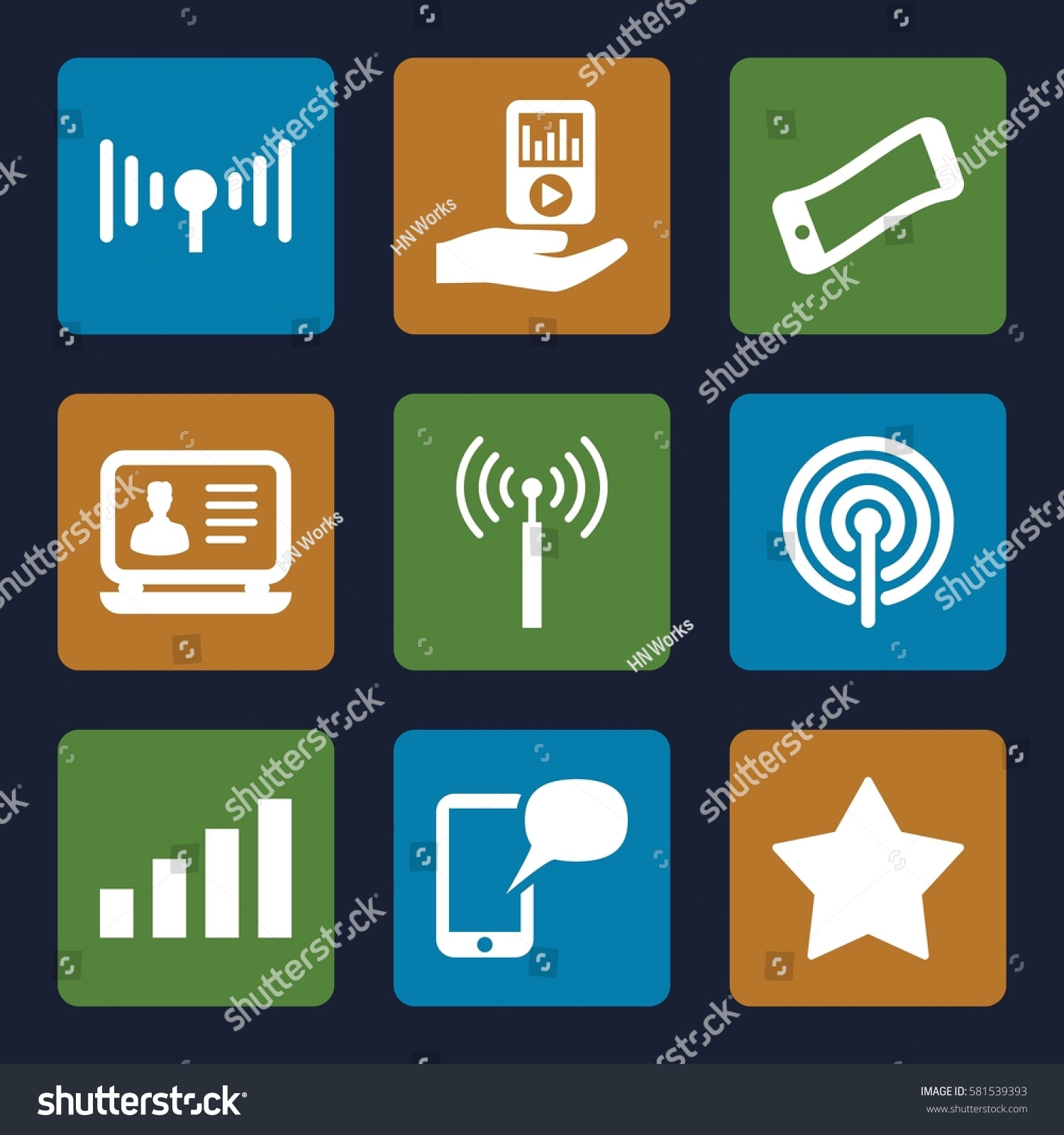 Mobile icons set set 9 mobile stock vector 581539393 shutterstock mobile icons set set of 9 mobile filled icons such as signal tower laptop biocorpaavc Image collections