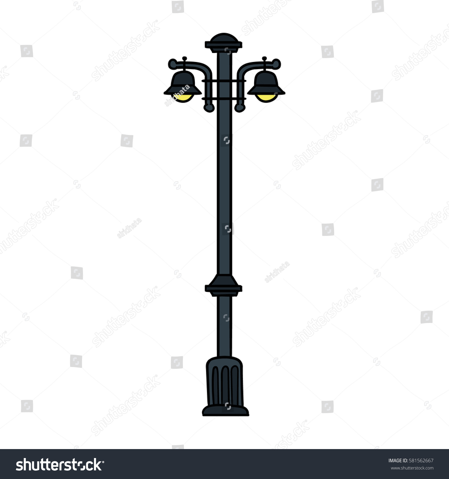 Cartoon Lamp Post Vector Illustration Stock Vector HD (Royalty Free ... for Lamp Post Vector Png  584dqh