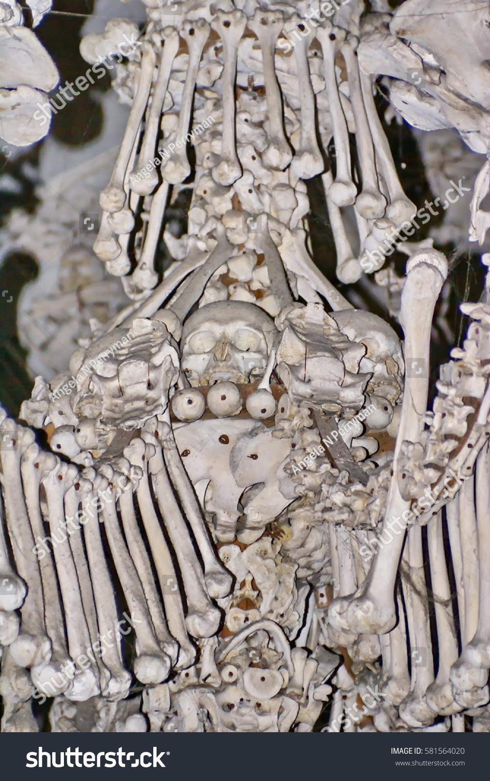 Kutna Hora Czech Republic October 10 2010 Chandelier Made From Human Bones
