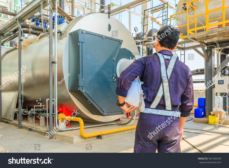 Maintenance Engineer Working Gas Boiler Heating Stock Photo (Royalty ...