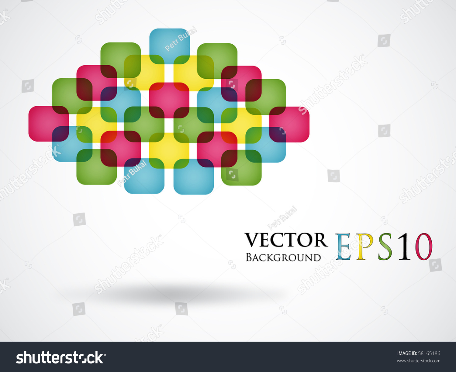 Color Abstract Vector Background Text Frame Stock Vector: Abstract Colorful Background With Text