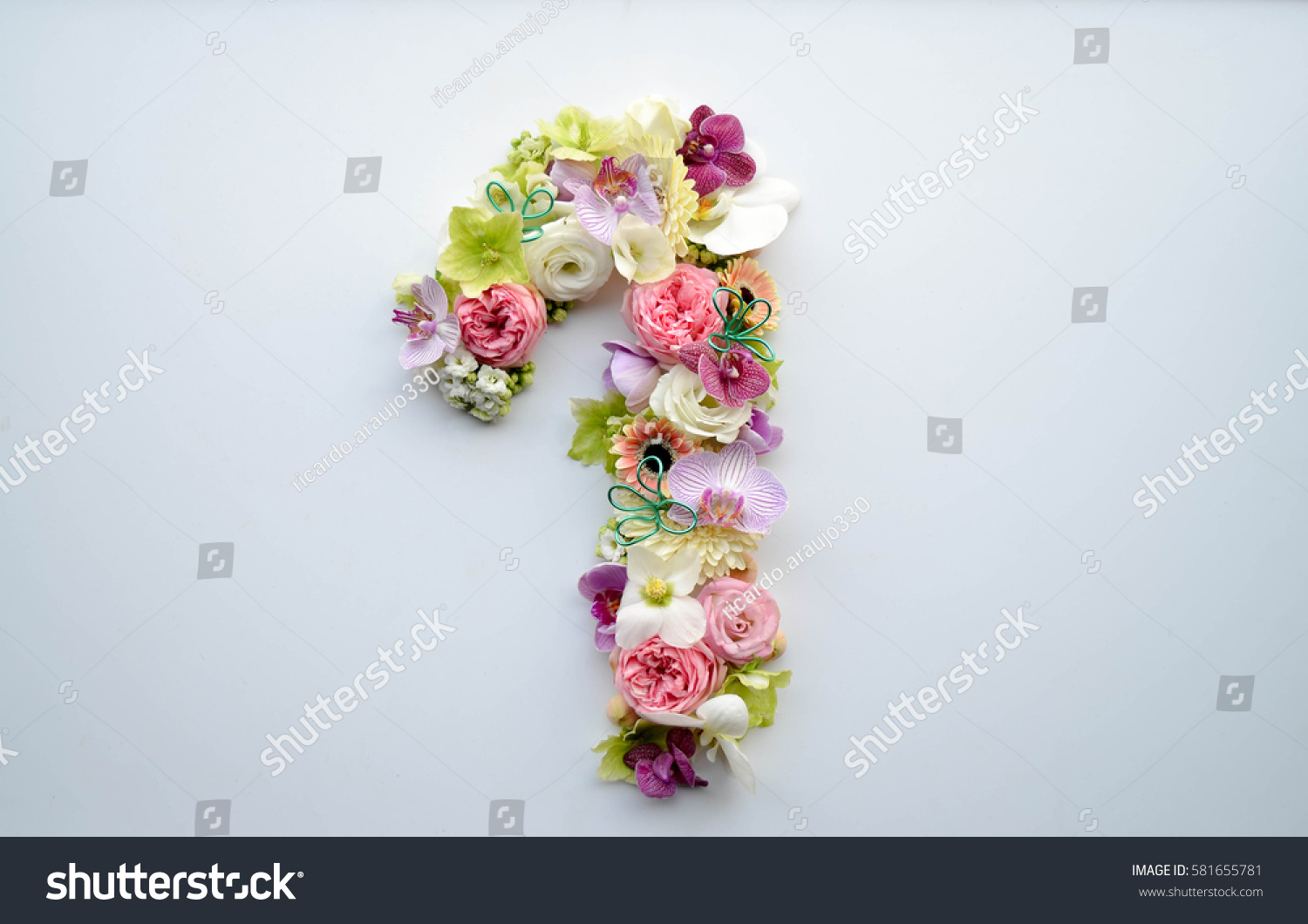 Number one made flowers beautiful pastel stock photo for Beautiful pastel colors